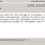 """Spam""-Mail von Unitymedia"